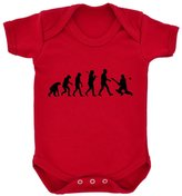 1StopShops Evolution of Cricket Baby Bodysuit with Black Print