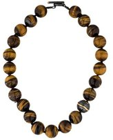 Yossi Harari Libra Tiger's Eye Quartz Bead Necklace
