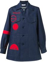 J.W.Anderson space motif denim coat - men - Cotton - 44