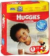 Huggies Snug & Dry Diapers Size 5 - 4 Packs of 25, Pack of 3