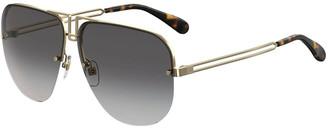 Givenchy Aviator Cutout Metal Sunglasses