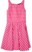Ralph Lauren 7-16 Striped Cotton Sateen Dress