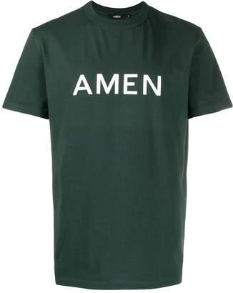 Amen logo crew neck T-shirt