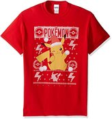 Pokemon Men's Pikachu Snowball Ugly Christmas T-Shirt