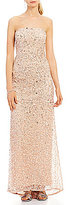 Adrianna Papell Strapless Beaded Gown