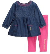 Juicy Couture Chambray Tunic & Legging Set (Baby Girls 3-9M)