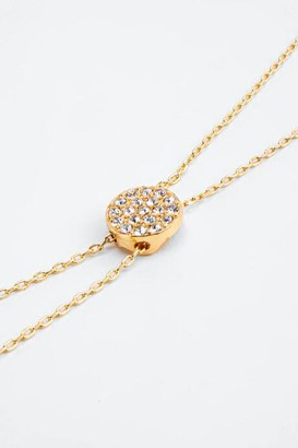 francesca's Tamara CZ Circle Lariat Necklace - Gold
