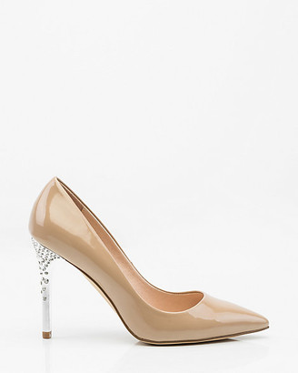 Le Château Jewel Embellished Patent Pointy Toe Pump