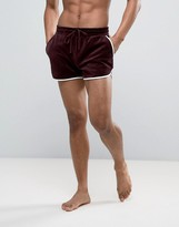 Asos Extreme Runner Short In Velour