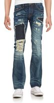 Cult of Individuality Rebel Distressed Straight-Leg Jeans