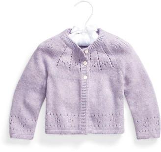 Ralph Lauren Pointelle Wool-Blend Shrug