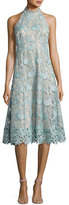 Nanette Lepore Sleeveless Floral Lace Cocktail Dress, Mint