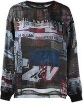 Diesel printed sweatshirt - women - Cotton/Polyester - XS