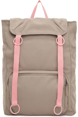 Raf Simons Grey and Pink Eastpak Edition Topload Loop Backpack