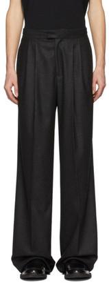 Bottega Veneta Black Cashmere Wide-Leg Trousers