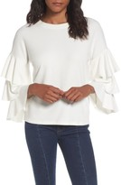 Leith Women's Tiered Ruffle Sleeve Tee