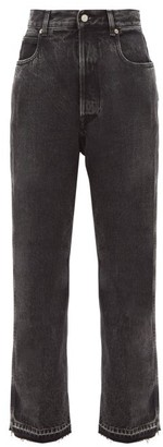 Golden Goose Kim Frayed-edge Straight-leg Jeans - Black