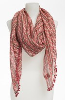 Tory Burch 'Painted Links' Scarf Womens Mermaid Blush Multi One Size One Size