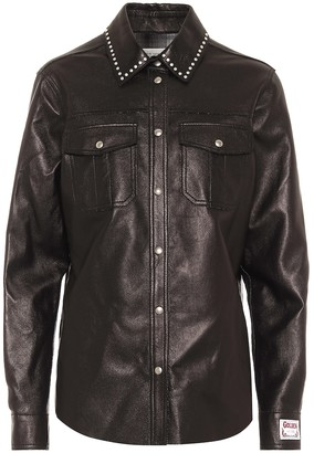 Golden Goose Aleida leather shirt