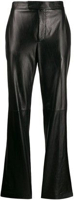 Helmut Lang Straight-Leg Leather Trousers