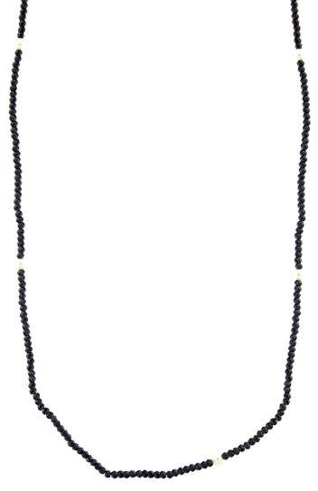 Tiffany & Co. ZIEGFELD Black Spinel and Pearl Necklace