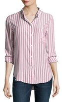 Rails Aly Striped Oxford Shirt, Red/White
