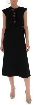 Bottega Veneta Bow-Detail Midi Dress