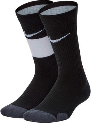 Nike Kids' Elite 2-Pack Crew Basketball Socks