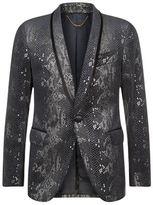 Billionaire Snake Print Velvet Jacket