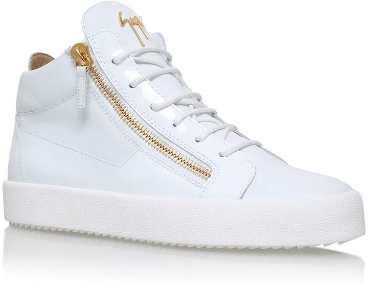 Giuseppe Zanotti Zip High-Top Leather Sneakers