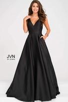 Jovani Satin Spaghetti Straps V Neckline Prom Dress JVN48791