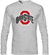 Annora Hayden-Moreland Mens Ohio State Buckeyes logo Long Sleeve Shirt S Grey