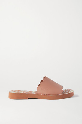 See by Chloe Scalloped Leather Slides