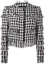 MSGM tweed houndstooth jacket - women - Cotton/Linen/Flax/Polyamide/Viscose - 42
