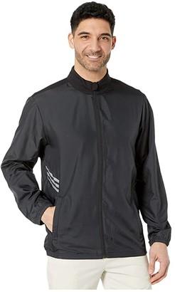 adidas Essentials Full Zip Wind Jacket (Black) Men's Clothing