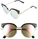 BP Women's Enamel Round Sunglasses - Black/ Pink