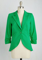 Esley Fine and Sandy Blazer in Grass