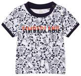 Timberland White and Navy Skateboard Print Tee
