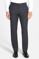 HUGO BOSS Genesis Flat Front Check Stretch Wool Pant