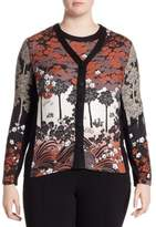 Stizzoli, Plus Size Floral Print Cardigan