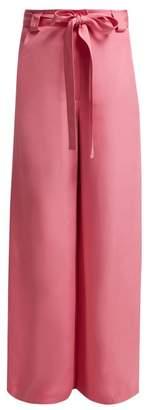 Etro Rosemont Wide-leg Silk Trousers - Womens - Pink