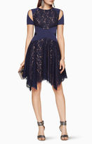 BCBGMAXAZRIA Trish Cutout Lace Dress