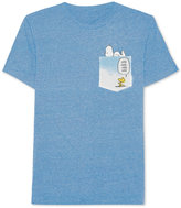 JEM Men's Peanuts Snoopy and Woodstock Graphic-Print Pocket T-Shirt