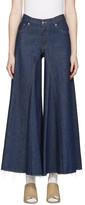 MM6 MAISON MARGIELA Indigo Raw Denim Wide-leg Jeans