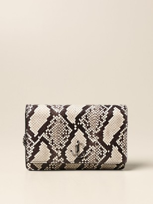 Jimmy Choo Palace Bag In Leather With Python Print