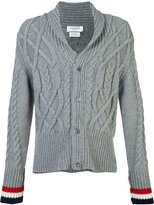 Thom Browne thick cable knit cardigan - men - Cashmere - 3