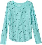 Mudd Girls 7-16 & Plus Size Thumbhole Long Sleeve Thermal Graphic Tee
