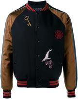 Lanvin patch applique varsity jacket