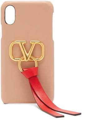 Valentino V Ring Leather Iphone X Case - Womens - Nude