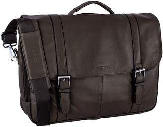 Nextech Genuine Colombian Leather Flapover Briefcase